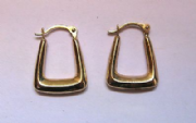 9Ct Gold Small Creole Handbag Earrings 0.4g